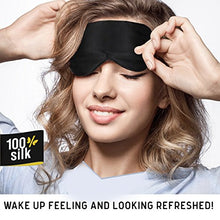 Load image into Gallery viewer, Jersey Slumber 100% Silk Sleep Mask For A Full Night's Sleep | Comfortable & Super Soft Eye Mask With Adjustable Strap | Works With Every Nap Position | Ultimate Sleeping Aid / Blindfold, Blocks Light