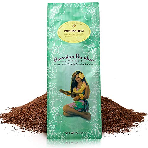 Hawaiian Paradise Coffee Medium Roast (24 OZ) World Class Premium Flavored Grounds Gourmet | Signature Brewed Made From the Finest Beans| Farm Fresh Earth Friendly | Paradise Roast
