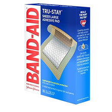 Load image into Gallery viewer, Band-Aid Brand Tru-Stay Adhesive Pads, Large Sterile Bandages for Wound Care, Large Size, 10 ct