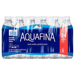 Aquafina Water, 16.9 Fl Oz (Pack of 24)