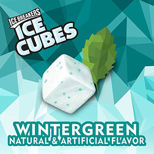 Ice Breakers Ice Cubes Sugar Free Gum with Xylitol, Wintergreen, 40 Count, Pack of 6