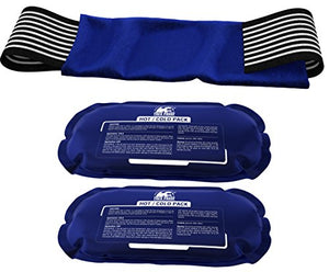 Ice Pack (2-Piece Set) – Reusable Hot and Cold Therapy Gel Wrap Support Injury Recovery, Alleviate Joint and Muscle Pain – Rotator Cuff, Knees, Back & More
