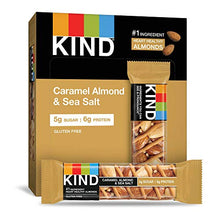 Load image into Gallery viewer, KIND Bars, Caramel Almond & Sea Salt, Gluten Free, Low Sugar, 1.4oz, 12 Count