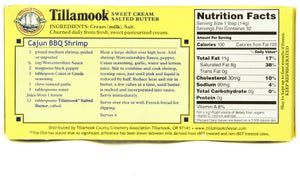 Tillamook Salted Sweet Cream Butter Quarters, 4 Sticks, 16 oz (Packaging May Vary)