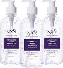 Load image into Gallery viewer, NxN Beauty Advanced Hand Sanitizer Refreshing Gel, with 70% Alcohol, 36 Total FL OZ - 3 Pack of 12 OZ (354ml Each)