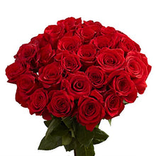 Load image into Gallery viewer, GlobalRose 50 Red Roses - Fresh Flowers Delivery- Lovely Bright Blooms