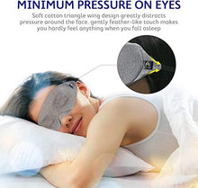 Load image into Gallery viewer, Mavogel Cotton Sleep Eye Mask - Updated Design Light Blocking Sleep Mask, Soft and Comfortable Night Eye Mask for Men Women, Eye Blinder for Travel/Sleeping/Shift Work, Includes Travel Pouch, Grey
