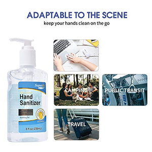 Superfy Hand Sanitizer, Moisturizing Gel Hand Wash with Pump,No-residue,Quick-drying 8 fl.oz (Pack of 8)