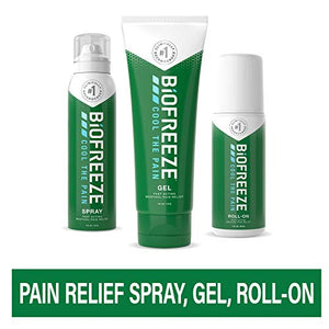 Biofreeze Pain Relief Gel Multi-Pack, Variety Pack Includes Tube, Spray, and Roll-On Formulas of the #1 Clinically Recommended Topical Analgesic (Packaging May Vary)