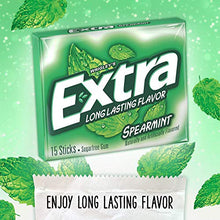 Load image into Gallery viewer, EXTRA Spearmint Sugarfree Chewing Gum, 15 Count (Pack of 10) Pieces