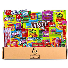 Load image into Gallery viewer, Bite Sized Candy Care Package - (50 count) A Sampler of Skittles, Sour Patch Kids, Starburst, M&M's, Twizzlers, Airheads, and More! Great for Movie Night, Sleepovers, and Goodie Bags!