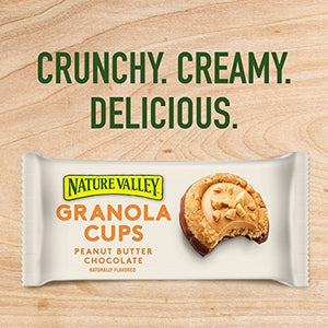 Nature Valley Peak Edition Granola Cups, Peanut Butter, 5 Pouches - 1.35 oz