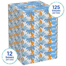 Load image into Gallery viewer, Kleenex Professional Facial Tissue for Business (03076), Flat Tissue Boxes, 12 Boxes / Convenience Case, 125 Tissues / Box