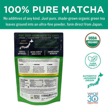 Load image into Gallery viewer, Jade Leaf Matcha Green Tea Powder - USDA Organic, Authentic Japanese Origin - Culinary Grade - Premium 2nd Harvest - (Lattes, Smoothies, Baking, Recipes) - Antioxidants, Energy [100g Value Size]