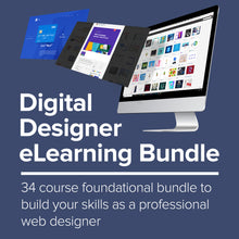 Load image into Gallery viewer, Digital Designer eLearning Bundle