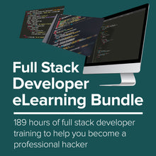 Load image into Gallery viewer, Full Stack Dev eLearning Bundle