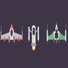 Load image into Gallery viewer, Create Flat Design Spaceships in Adobe Illustrator