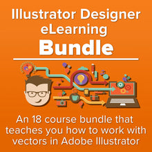 Load image into Gallery viewer, Illustrator Designer eLearning Bundle
