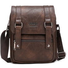 Load image into Gallery viewer, JEEP BULUO Men Messenger Bags New Man's Crossbody Shoulder Bag Large Capacity Leather Travel Tote For 9.7' IPAD Multi-function