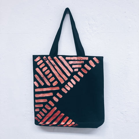 Imperfect Hand-painted Tote Bag_Copper