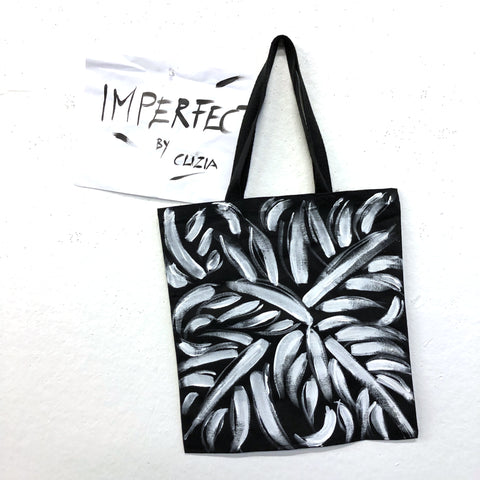Imperfect Leaves Hand-Painted Tote