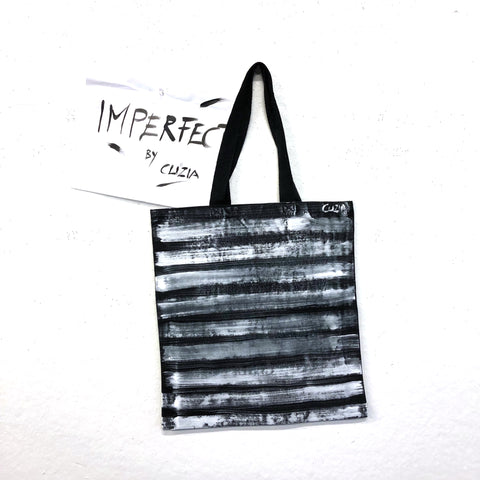 Imperfect STRIPES Hand-Painted Tote