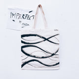 Imperfect Hand-painted Tote Bag_Waves