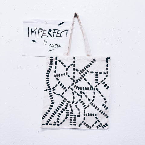 Imperfect Hand-painted Tote Bag_Map