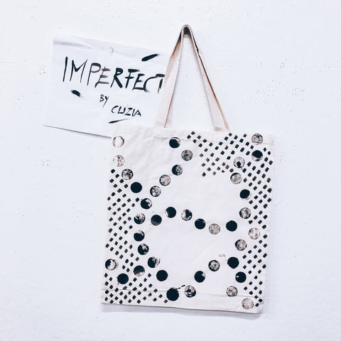 Imperfect Hand-painted Tote Bag Dot&Dash