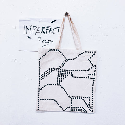 Imperfect Hand-painted Tote Bag San Francisco