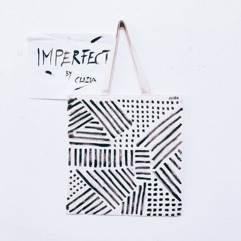 Imperfect Hand-painted Tote Bag Field