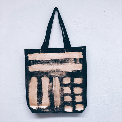 Imperfect Hand-Painted Tote Bag Gold