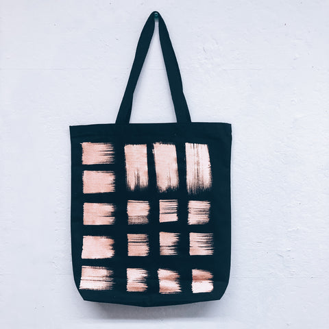 Imperfect Hand-Painted Tote Bag Bronze
