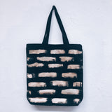 Imperfect Hand-painted Tote Bag_Gold Stripes