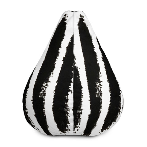 Imperfect Zebra Bean Bag Chair w/ filling