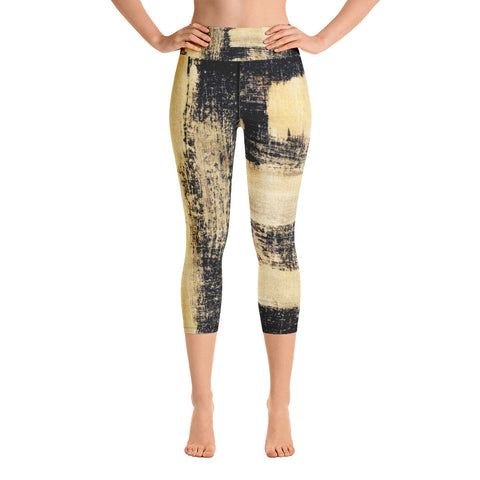 Imperfect Gold 44 Yoga Capri Leggings
