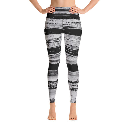 Imperfect Black Stripes Yoga Leggings