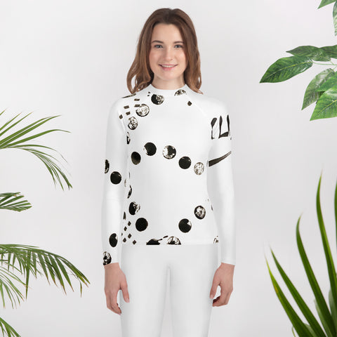 Clizia Dots Youth Rash Guard
