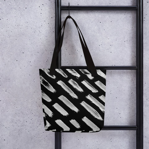 Imperfect Clizia Black brush Tote bag