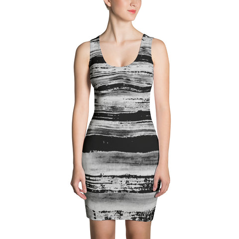 Imperfect Clizia Stripes Sublimation Cut & Sew Dress