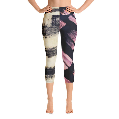 Imperfect Gold&Copper Yoga Capri Leggings