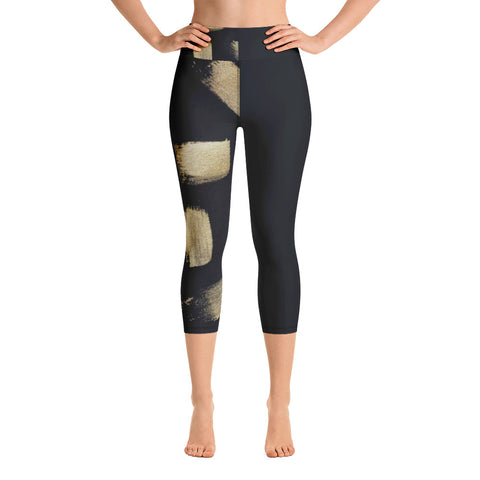 Imperfect Gold 11 Yoga Capri Leggings