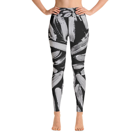 Imperfect Black Leaves Yoga Leggings