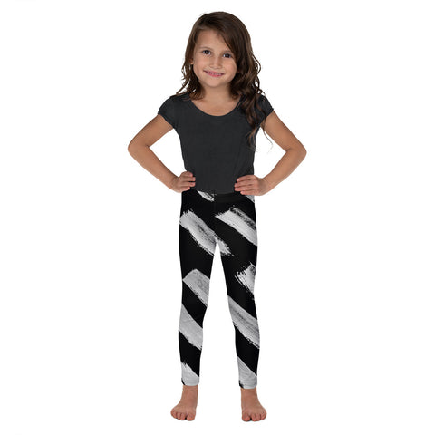 Imperfect Black Brush Kid's Leggings