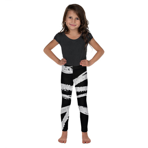 Imperfect Black Wave Kid's Leggings