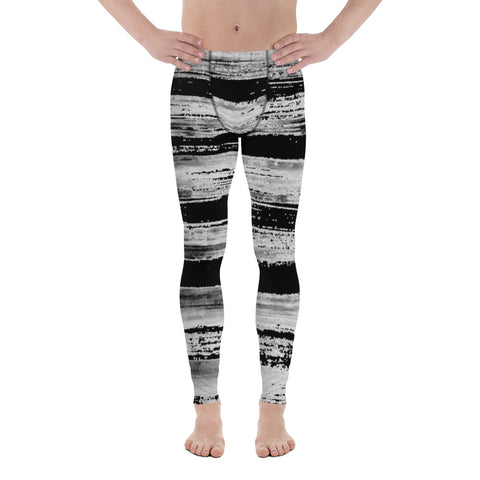 Imperfect Stripes Black Men's Leggings