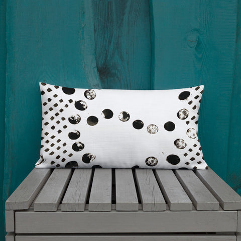 Imperfect Dash&Dots Premium Pillow