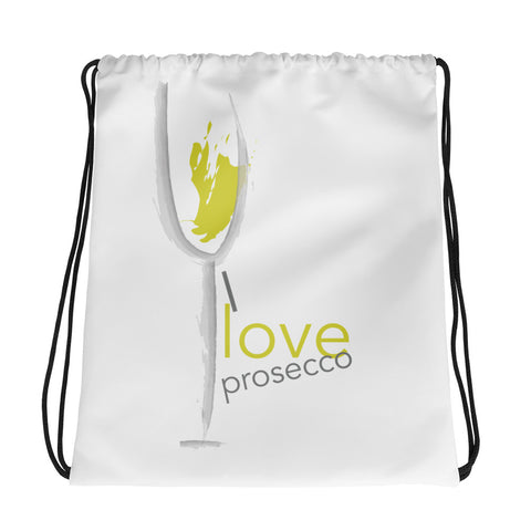 "I love Prosecco"" Drawstring bag"