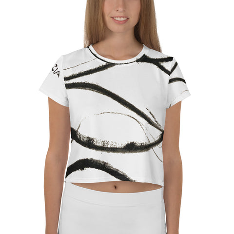 Imperfect Wave Yoga Crop Tee