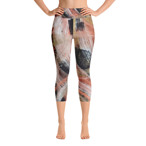 Imperfect Gold 100 Yoga Capri Leggings